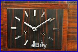 Superb 1930`Art Deco Amsterdamse School Mantel Clock, Palisander