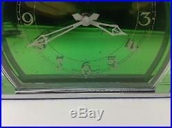 Superb Green Faced Genalex 1930's Art Deco Electric Mantle Clock