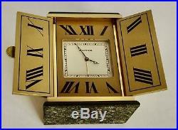 Superb Les Must de Cartier, Triptych Art Deco Clock