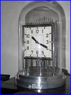 Superbe et rare horloge BULLE CLOCK Art Deco chrome et verre clock collection