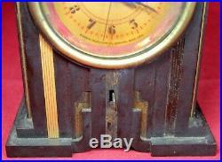 Telechron Skyscraper Bakelite Art Deco Alarm Clock Vintage Parts/Repair
