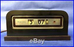 Telechron The Baron 8b07 Art Deco Electric Cyclometer Alarm Clock