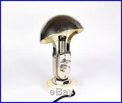 Tischuhr Lampe m. Uhr Tischlampe MOFÉM ART DECO vintage clock light pendule lamp
