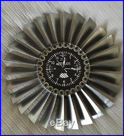 Titanium Turbine Jet Engine Disk Altimeter Clock F-5/T-38 Art Deco Memorabilia