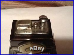 Very Rare Antique Art Deco Ronson Table Lighter With Clock Must See No Reserve