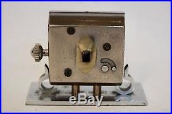 VINTAGE 1930s SMITHS/ JAEGER LECOULTRE NICKEL PLATED BRASS ART DECO DESK CLOCK