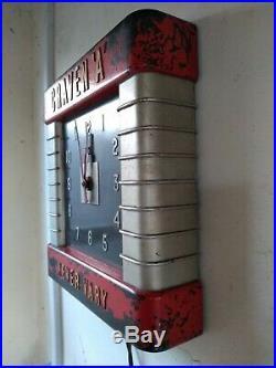 VINTAGE ART DECO BIG BAKELITE SMITHS WALL CLOCK 1930's Garage Cinema CRAVEN A