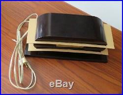 VINTAGE ART DECO PENNWOOD TELE-VISION DIGITAL ELECTRIC BAKELITE FLIP CLOCK Runs