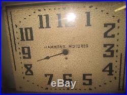VINTAGE HAMMOND NEON MOTORED ART DECO CLOCK