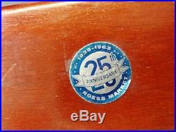 VINTAGE LAWSON TIME INC. ART DECO ELECTRIC CLOCK MODEL P-40 STYLE 217 ca 1930s