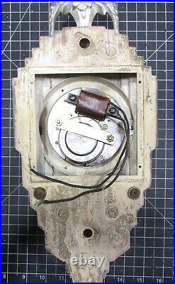 VTG 1930's Manning-Bowman Skyscraper Art Deco Electric Wall Clock Needs Work