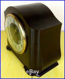 VTG Smith's Enfield St Paul 8 day Striking Mantle Clock Art Deco Bakelite FC7597