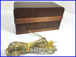 VTG Telechron 8B09 Wood Art Deco Electric Cyclometer Flip Roll Clock 1930s 40s