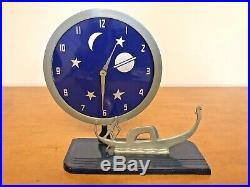 Very Rare- Art Deco Figurative Mechanical Clock By Frank Mariani-venice-skyscrap