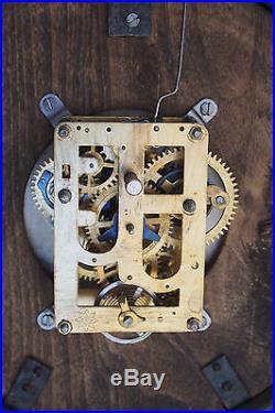 Very Rare Large 29 cm Antique Junghans Germany Alarm Clock 12'' Art Deco