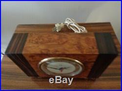 Vintage 1930's Herman Miller Art Deco Gilbert Rhode Clock Maple Macassar Ebony
