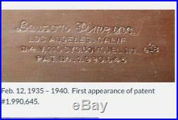 Vintage 1930s Rare find Lawson Art Deco Digital Clock