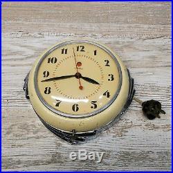 Vintage 1930s Telechron 2H09 The Stewardess Art Deco Kitchen Wall Clock
