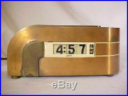 Vintage 1940's Art Deco Lawson Zephyr Clock Style 304