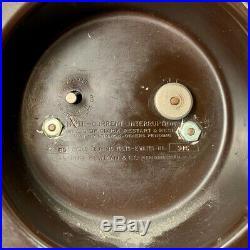 Vintage 30's Manning Bowman Electric Art Deco Wood Mantle Clock Model 915