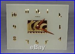 Vintage ART DECO era GENERAL ELECTRIC GE Model #5F50 ELECTRIC CLOCK