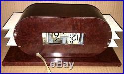 Vintage Art Deco 1948 Pennwood Digital Electric Bakelite Flip Clock Federal