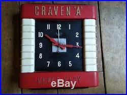Vintage Art Deco BIG Bakelite wall Clock 1930 Garage Automobilia Cinema Craven A