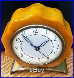 Vintage Art Deco Caitalin/Bakelite Electric Clock McClintock 1930sFor Repair