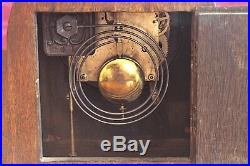 Vintage Art Deco German 8-Day Striking Mantel Clock