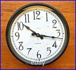 Vintage Art Deco International Business Machine IBM 24 volts DC Slave Clock
