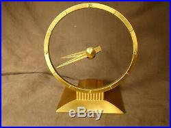 Vintage Art Deco Jefferson Golden Hour Mystery Electric Clock NICE