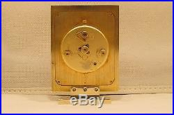 Vintage Art Deco LeCoultre 8 day Recital Swiss Alarm Clock