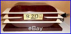 Vintage Art Deco Pennwood Tele-vision Digital Electric Bakelite Flip Clock