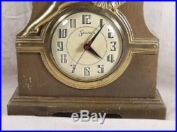 Vintage Art Deco Sessions Sexy Pin-Up Girl Shelf Mantle Clock Collectible Rare