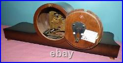 Vintage Art Deco Style Hermle SchwebeAnker Wood Mantle Clock Works