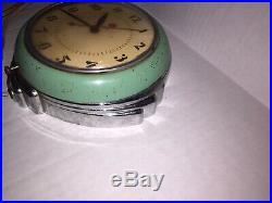 Vintage Art Deco Telechron 2H09 Stewardess Wall Clock Jadeite