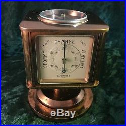 Vintage Art Deco Tiffany & Co 8 Day Clock Weather-Station