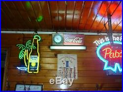 Vintage Coca Cola Lighted Counter Clock -price Bros-fountain Shop Art Deco
