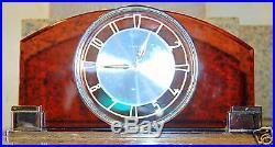 Vintage German Mauthe Art Deco desk Clock Mint Cond
