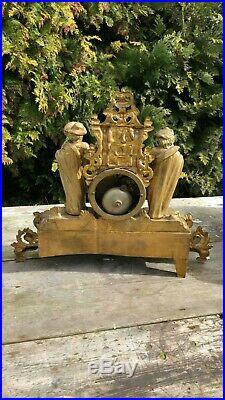 Vintage Hry Marc Paris French Art Deco Clock Spares or Repairs