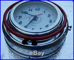 Vintage Lumichron Red Yellow Neon Electric Wall Clock 12 Art Deco MCM