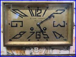 Vintage Marble Art Deco Mantle Clock