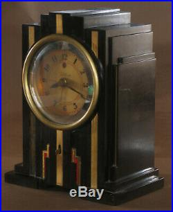Vintage Telechron Electrolarm 700 Clock Art Deco Bakelite 1929 1931 Skyscraper