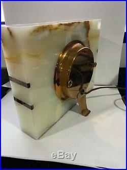 Vintage Telechron Model 4B151 Shoreham Pedara Onyx Art Deco Clock