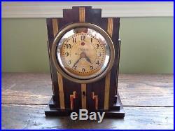 Vintage Warren Telechron Skyscraper Antique Art Deco Bakelite Working Clock