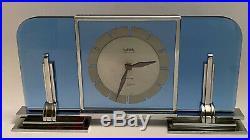 Vintage pendule art deco JAEGER LECOULTRE modernist desk clock 1930
