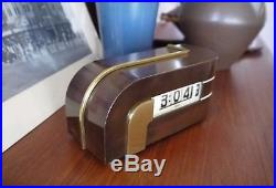 Vntg Streamline/Art Deco Lawson Clock Style 304 Zephyr