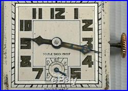 Vtg 1936 Sapho Geneve Art Deco Solid Silver Folding Pocket Travel Watch Clock