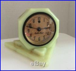Vtg Art Deco Slag Glass Cadillac Electric Timer Desk Clock By Vidrio Products