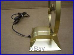 Vtg Original Jefferson Golden Hour Electric Mystery Clock Works Art Deco USA